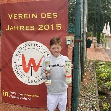 Edgar Reich gewinnt offenes WTV Turnier U12 in Haltern