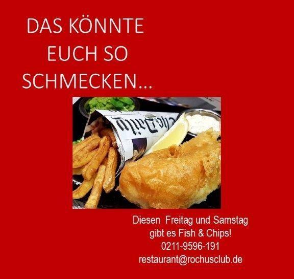 NEU: Freitag und Samstag Fish & Chips im Restaurant