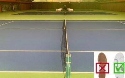 Abschluss der Sanierungsarbeiten in der Tennishalle