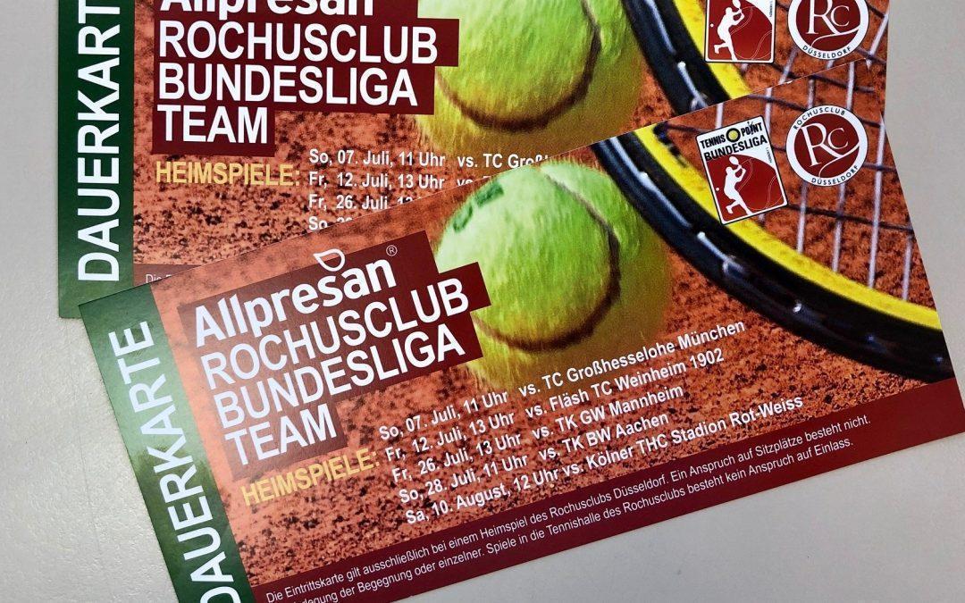 Karten für die Tennisbundesliga im Rochusclub