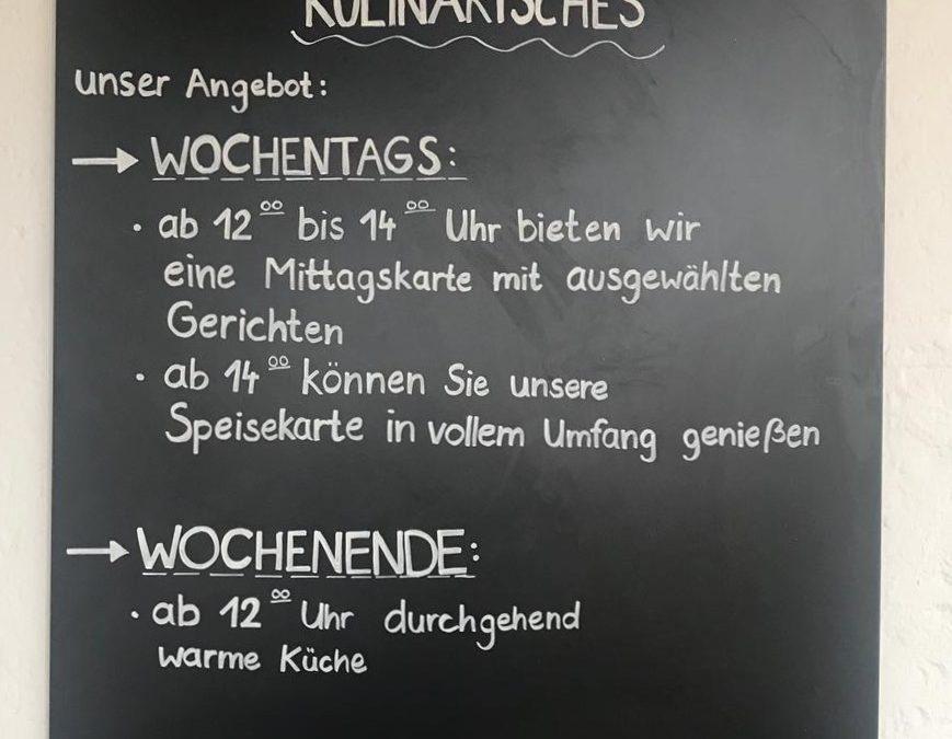 Neue Restaurant-Öffnungszeiten ab April