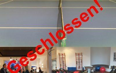 Geschlossen: Restaurant, Tennishallen und Fitnessbereich bis 30.11.2020